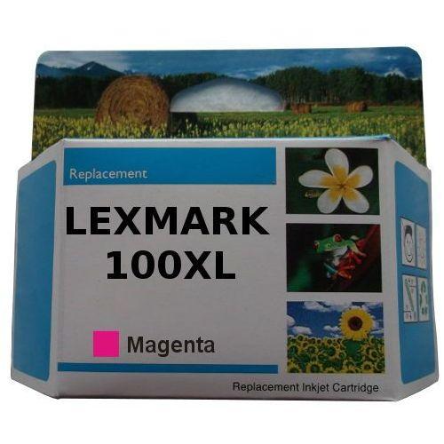 Zastępczy atrament lexmark 100xl [14n1070e] magenta 100% nowy marki Orink