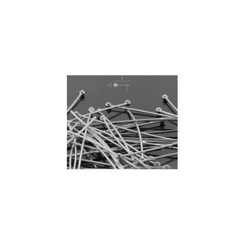 Szpilki drut 0,5 mm długość 25 mm srebro hp 0,50 25 mm marki 925.pl