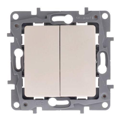 Łącznik schodowy Legrand Niloe 764609 podwójny 10AX + przycisk 6A kremowy