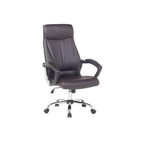Krzesło biurowe brązowe regulowana wysokość CHAMPION