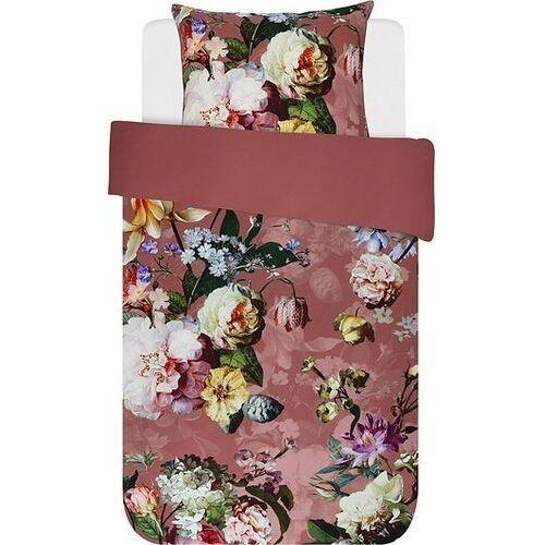 Pościel Fleur ciemnoróżowa 140 x 220 cm z poszewką na poduszkę 60 x 70 cm, 401055-100NL-022