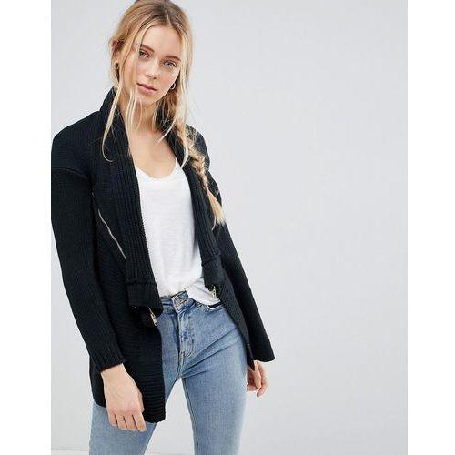 waterfall knitted jacket - black marki Qed london