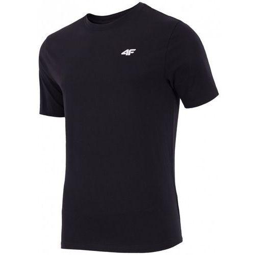 T-shirt męski TSM255 - czarny, bawełna