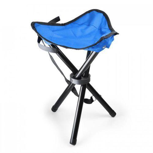 Duramaxx przenośne krzesło turystyczne wędkarskie niebiesko-czarne 500g