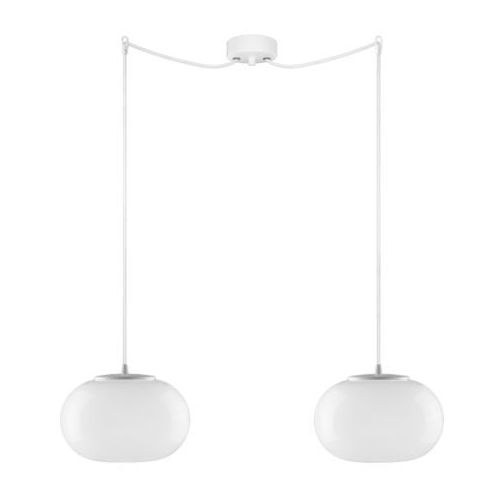 LAMPA wisząca DOSEI ELEMENTARY 2/S/OPAL Sotto Luce szklana OPRAWA klasyczna minimalistyczna ZWIS biały (1000000210835)