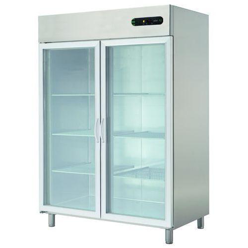Asber Szafa chłodnicza 2-drzwiowa prawostronna z drzwiami przeszklonymi 1400 l, 1388x826x2008 mm   , ecp-1402 glass