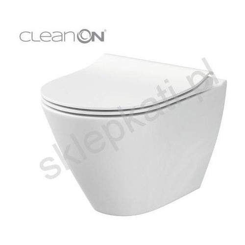 city oval miska wisząca clean on new k35-025 marki Cersanit