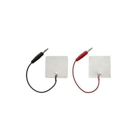 Elektroda aluminiowa 60x120 mm z przyłączem męskim lub żeńskim - 2 lub 4 mm