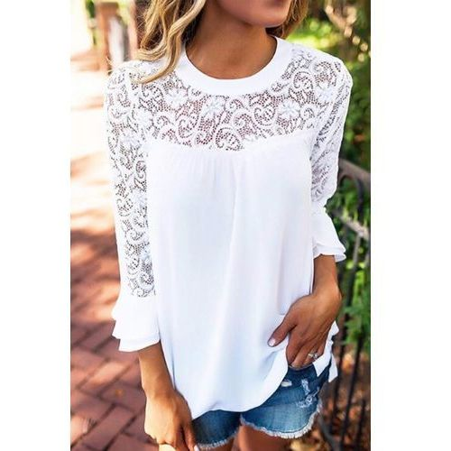 Damska bluzka SOBEA, kolor biały
