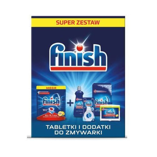 Zestaw środków FINISH do zmywarek DARMOWY TRANSPORT (5900627093001)