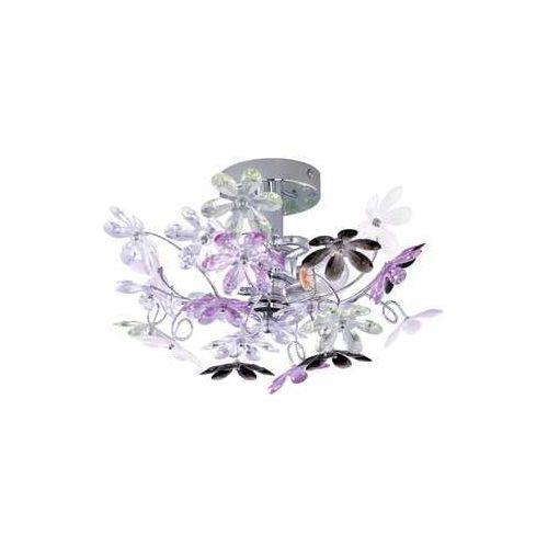 Trio rl flower r20012017 plafon lampa sufitowa 2x40w e14 chrom / wielokolorowy (4017807264760)