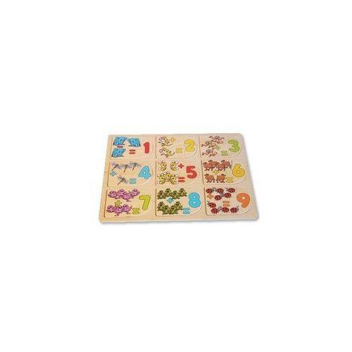 Playme Puzzle drewniane układanka do nauki liczenia z dodawaniem (5907791524263)