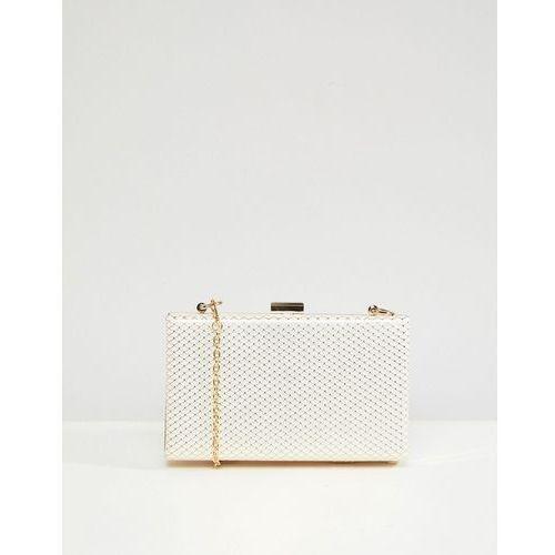 Claudia canova structured clutch bag - white