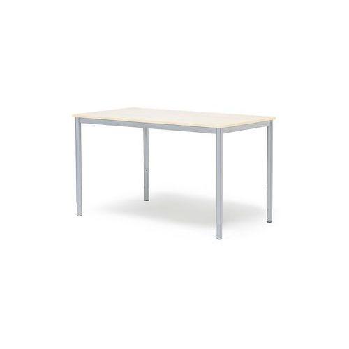 Biurko ADEPTUS, 1200x600 mm, laminat, brzoza, szary, 145483