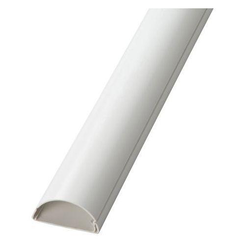 Listwa półokrągła na kable 50 x 25 x 1000 mm biała, 1D5025W/EH
