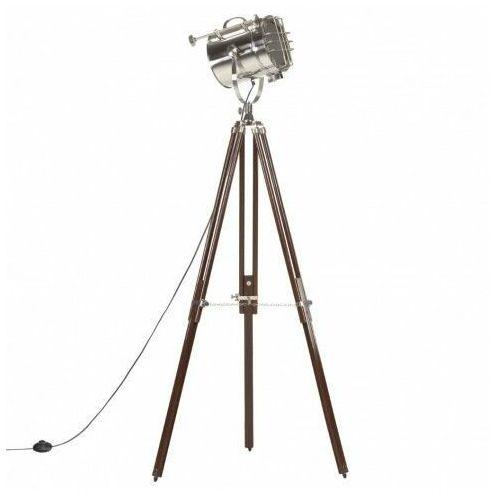 Lumes Drewniana lampa stojąca retro z regulacją wysokości - ex197-savita
