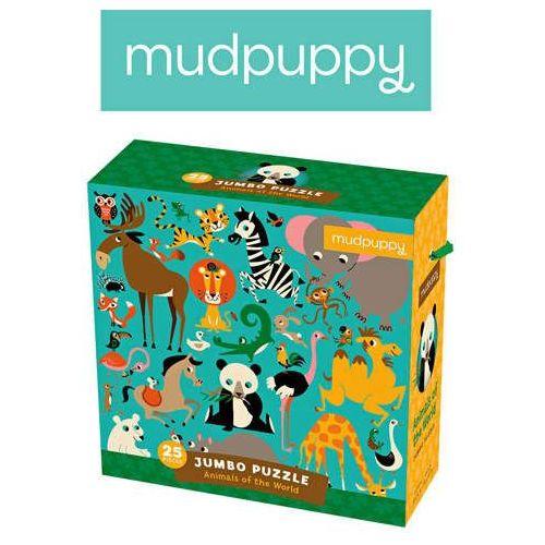Mudpuppy  - puzzle podłogowe jumbo zwierzęta świata 25 elementów 2+