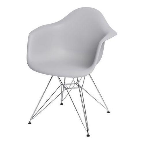 D2.design Krzesło p018 pp light grey, chrom nogi hf