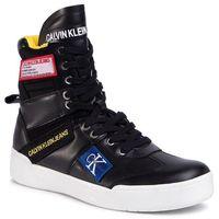 Sneakersy jeans - norton nappa leather s0580 black, Calvin klein, 40-46