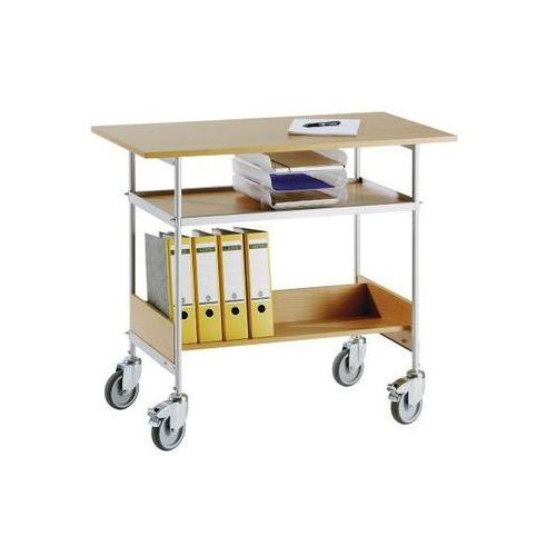 Wilhelm ebinger Wózek stołowy, nośność 150 kg, pow. robocza 1000x550 mm. szkielet lakierowany pr