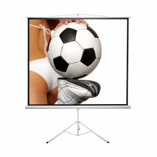 Ekran ręcznie rozwijany na trójnogu Kauber ECONO TRIPOD 200x200cm, 1:1, Matt White