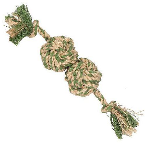 Mocny gryzak bawełniany dla psa naturals mini ball tugger marki Nuts for knots