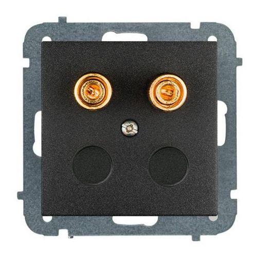 Gniazdo głośnikowe podwójne sentia moduł bez ramki czarne marki Elektro-plast
