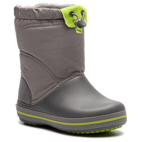 Crocs Śniegowce - crocband lodgepoiont boot k 203509 smoke/graphite