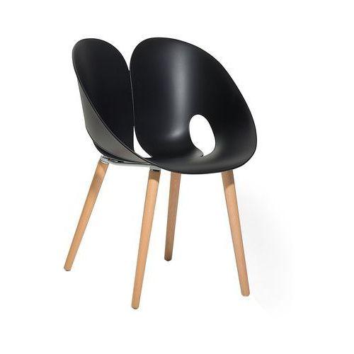 Krzesło do jadalni czarne MEMPHIS, kolor czarny