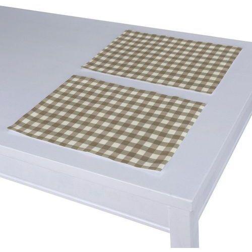 Dekoria podkładka 2 sztuki, beżowo biała kratka (1,5x1,5cm), 40 x 30 cm, quadro