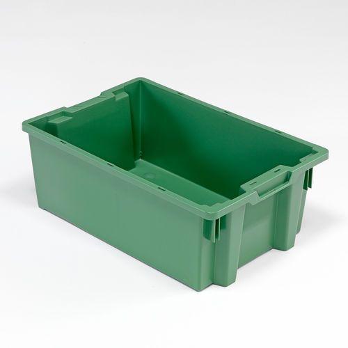 Zielony pojemnik plastikowy o poj. 40l - 400x220x600mm