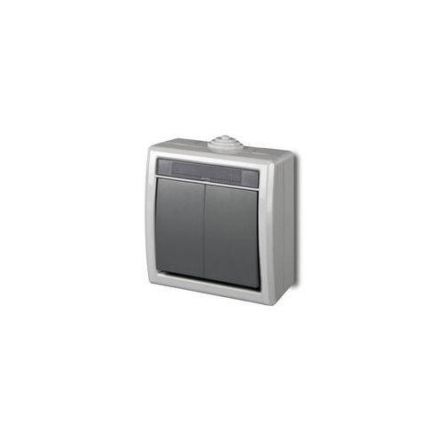 Włącznik podwójny AQUANT Szary ELEKTRO-PLAST