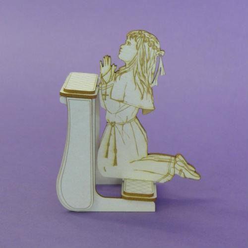 Komunijna dziewczynka na klęczniku 3d - dzk marki Crafty moly