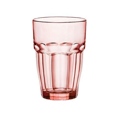 Florentyna Komplet 4 szklankek 370ml brzoskwiniowe lounge rock bar -bormioli