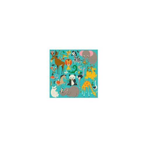 Mudpuppy Puzzle pod�ogowe jumbo (zwierz�ta �wiata)
