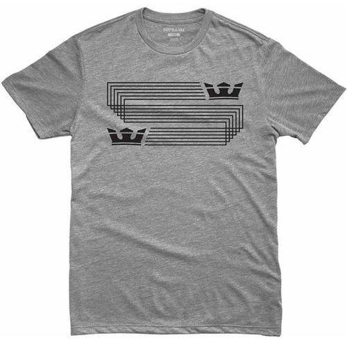Supra Koszulka - linked crown reg s/s grey heather (034) rozmiar: m
