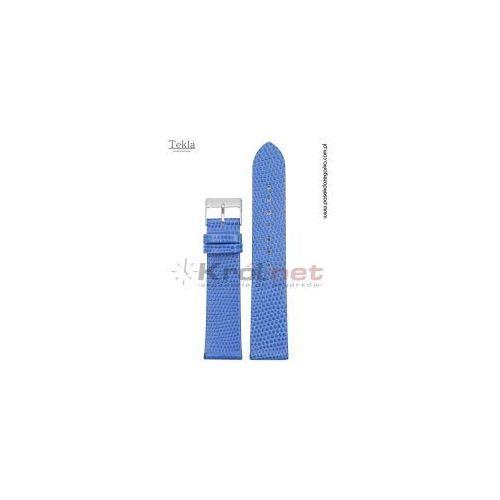 Pasek TK117NIE/18 - niebieski, imitacja jaszczurki