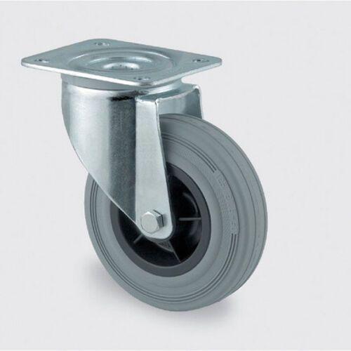 Koła przemysłowe z maksymalnym obciążeniem 70-205 kg, szara guma (4031582303865)