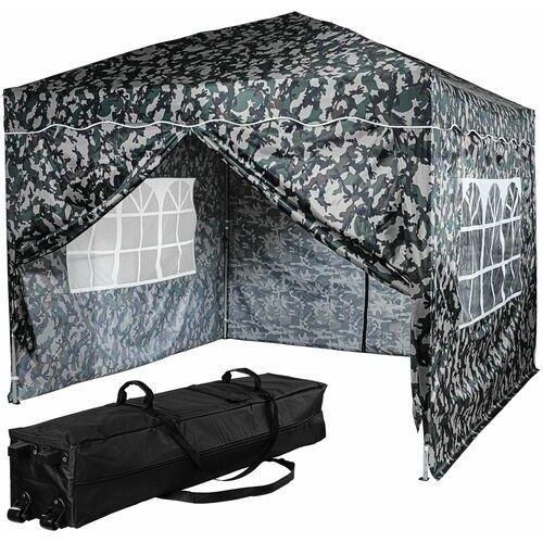 Instent ® Ekspresowy pawilon namiot ogrodowy 3x3 kolor miejski + 4 ścianki - jasny moro (kamuflaż miejski) (4048821790256)