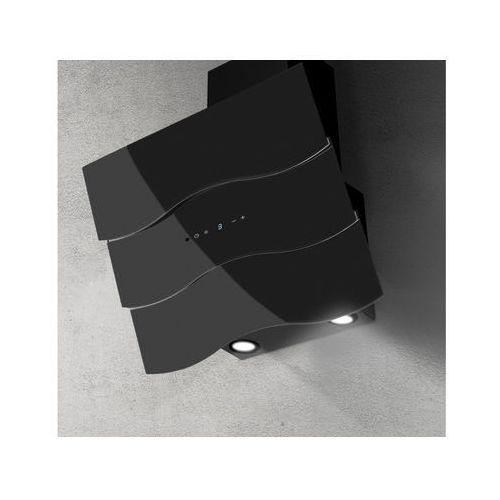 Afrelli Okap naścienny onda czarna 60 cm, 635 m3/h (5907670759243)