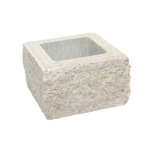 Pustak słupkowy 30 x 30 x 19 cm betonowy czterostronnie łupany SKAŁA LUBUSKA ZIEL-BRUK (5901171146823)