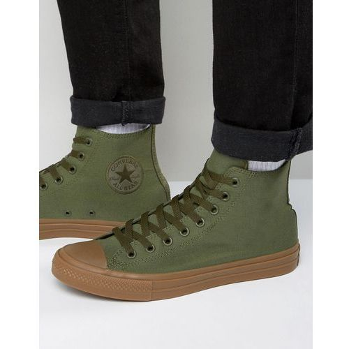 Converse  chuck taylor all star ii hi plimsolls with gum sole in green 155498c - green
