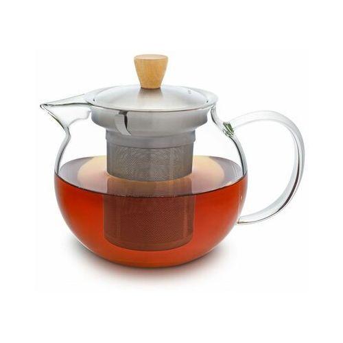 glaswerk sencha, imbryk do herbaty, 0,65 l, wkład z sitkiem ze stali nierdzewnej, szkło borokrzemowe, pokrywka marki Klarstein