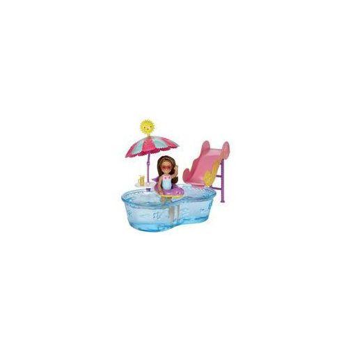 Barbie Ma�e zestawy Chelsea + lalka Mattel (zabawa w wodzie), DWJ45 DWJ47