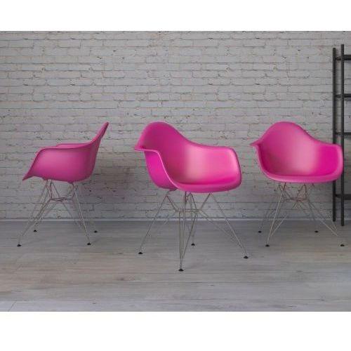 Krzesło p018 pp inspirowane dar - różowy marki D2.design