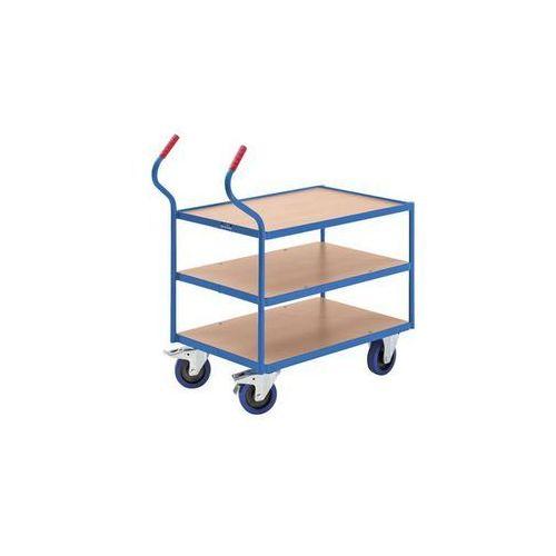 Przemysłowy wózek stołowy,3 piętra marki Eurokraft