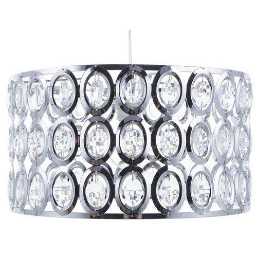 Beliani Lampa wisząca chromowana/kryształowa tenna s (7105275745564)