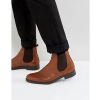 oliver leather chelsea boots in brown - brown marki Selected homme