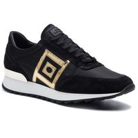 Versace Sneakersy collection - v900741 vm00459 va75 nero/oro/fdo/bianco