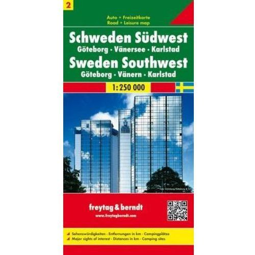 Szwecja cz.2 część południowo-zachodnia Göteborg-Vänersee-Karlstad, 1:250 000 (2011)